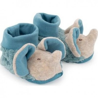 """Chaussons Elephant """"Sous Mon Baobab"""" - Moulin Roty"""