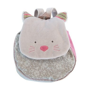 """Sac à dos chat gris """"Les Pachats"""" - Moulin Roty"""