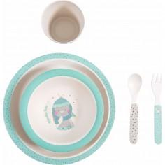 Set vaisselle bleue les...