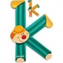 Lettre Bois Clown K - Janod