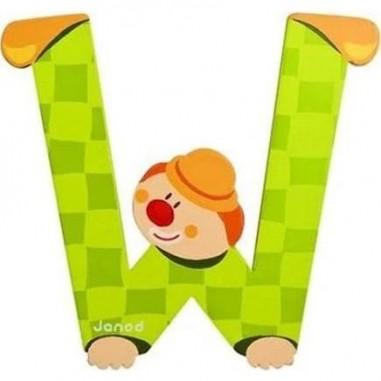 Lettre Bois Clown W - Janod