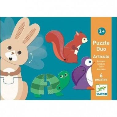 Puzzle Duo Articulo Animaux - Djeco
