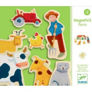"Magnets en bois ""Ferme"" - Djeco"