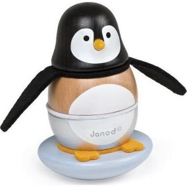 Jouet Culbuto en bois Pingouin - Janod