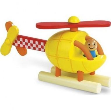 Hélicoptère en bois magnétique - Janod