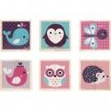 Mes Premiers Cubes en bois - Bébés Animaux - Janod