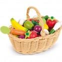 Panier de 24 fruits Et légumes en bois - Janod