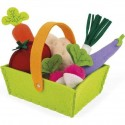 Panier de 8 Légumes en Tissu - Janod