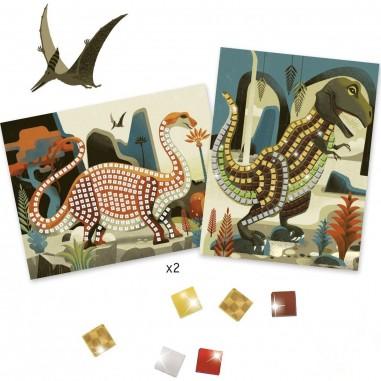 Tableaux Mosaïques Dinosaures - Djeco