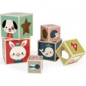 Pyramide 6 Cubes - Baby Forest - Janod