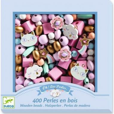 "Coffret de perles en bois ""Arc En..."