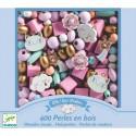 "Coffret de perles en bois ""Arc En Ciel"" - Djeco"