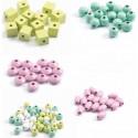 Perles En Bois Feuilles Et Fleurs Foison De Perles - Djeco