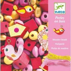 Perles En Bois Oiseaux - Djeco