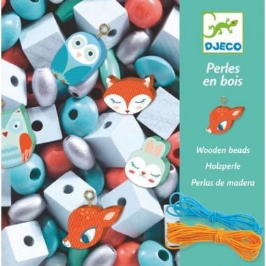 Perles En Bois Petits Animaux Foison De Perles - Djeco