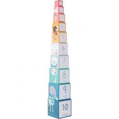 Cubes empilables Les Jolis Trop Beaux - Moulin Roty