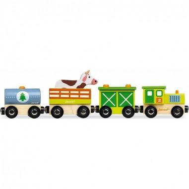 """Train en bois """"Story Ferme"""" - Janod"""
