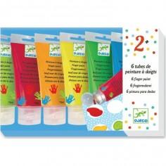 Peinture à doigts 6 tubes - Djeco