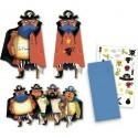 8 Cartes d'invitation Anniversaire Pirates - Djeco