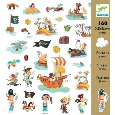 Stickers Papiers Pirates - Djeco