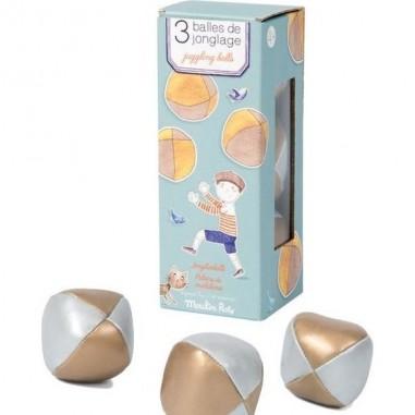 3 Balles De Jonglages pour enfants - Moulin Roty