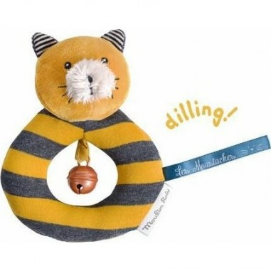 """Anneau hochet chat Lulu """"Les Moustaches"""" - Moulin Roty"""