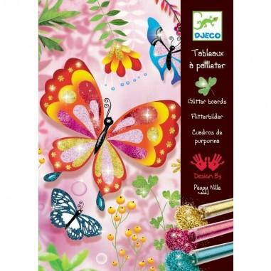 """Tableaux à Paillettes """"Papillons à..."""