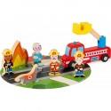 """Coffret de jeu en bois """"Pompiers Story"""" - Janod"""