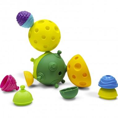 Balles sensorielles et perles (12 pièces) - Lalaboom