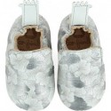 Blublu Ginko Inwy/argent - Chaussons semelle souple Filles - Easy Peasy