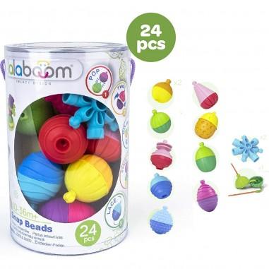 Sac de Perles balle sensorielle bébé (24 pièces) - Lalaboom