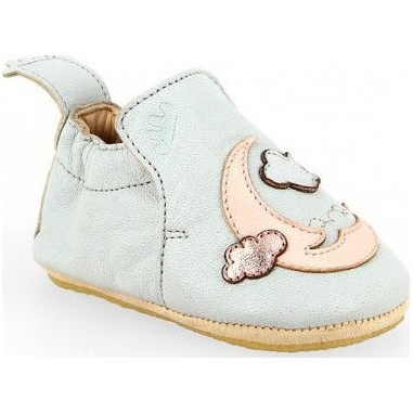 Blublu Moon Inwy/rose Baba - Chaussons semelle souple Bébé Fille - Easy Peasy