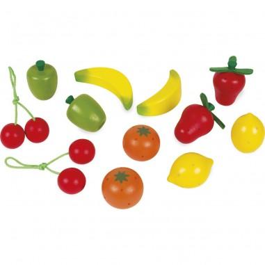 Cagette de 12 fruits en bois - Janod