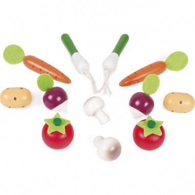 Cagette de 12 légumes en bois - Janod