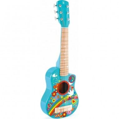 "Guitare en bois ""Flower Power"" - Hape..."