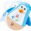 "Culbuto musical en bois ""Pingouin"" - Hape Toys"