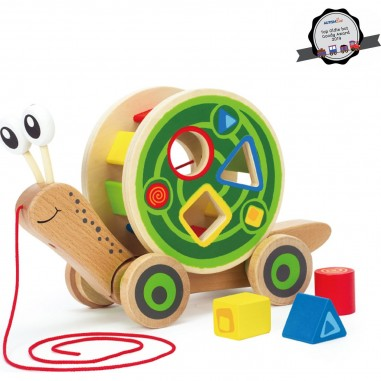 """Jouet à tirer """"Escargot"""" - Hape Toys"""