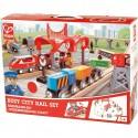 """Circuit de train en bois """"La ville animée"""" - Hape Toys"""