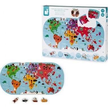 """Jeu puzzle de bain """"Carte des..."""