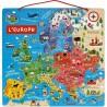 Puzzle carte d'Europe magnétique - Janod