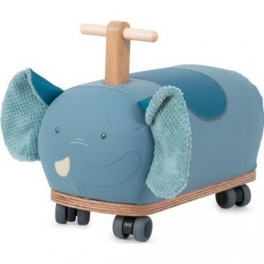 Porteur en bois roues folles Eléphant...