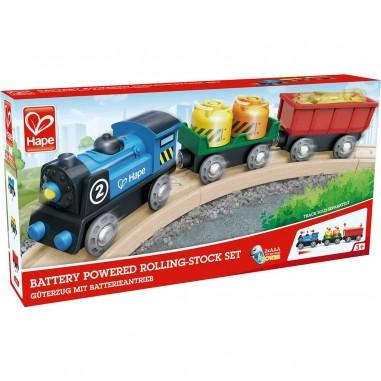 Train de marchandise à piles - Hape Toys