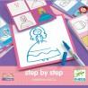 "Coffret Apprendre à dessiner ""Step by Step"" Joséphine and Co - Djeco"
