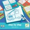 """Coffret Apprendre à dessiner """"Step by Step"""" Arthur and Co - Djeco"""