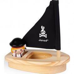 """Jouet de bain gicleur """"Captain Mélo et son bateau"""" - Janod"""