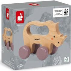 Rhino à promener en bois WWF - Janod