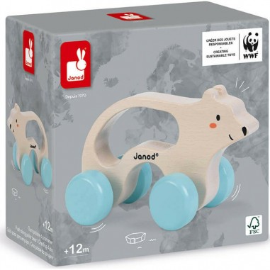Ours polaire à promener WWF - Janod