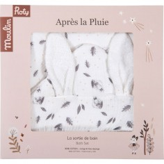 "Sortie de bain Lapin ""Après la Pluie"" - Moulin Roty"
