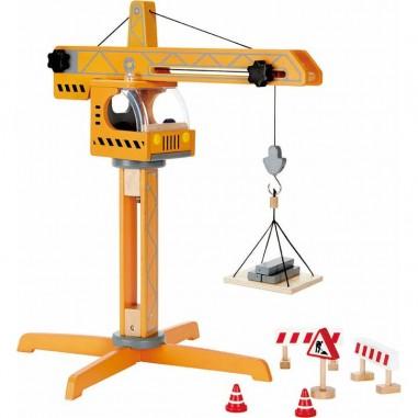 Grue élévatrice en bois - Hape Toys
