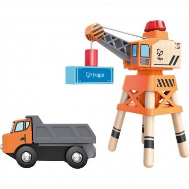 Grande grue en bois magnétique - Hape Toys